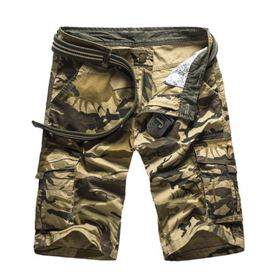 Camouflage Cargo Shorts Khaki Camo / 44 - Men Bottoms | MegaMallExpress.com