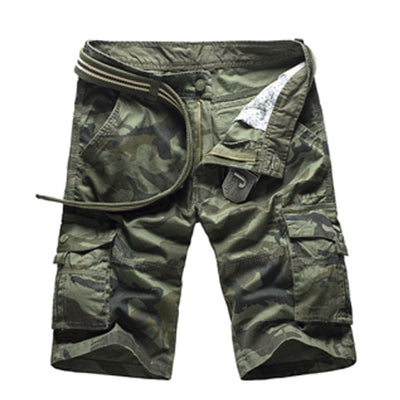 Camouflage Cargo Shorts 1566Green Camo / 44 - Men Bottoms | MegaMallExpress.com