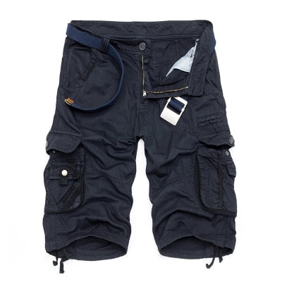 Camouflage Cargo Shorts Dark Blue / 44 - Men Bottoms | MegaMallExpress.com
