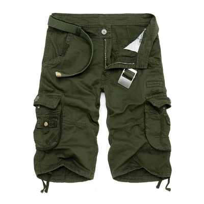 Camouflage Cargo Shorts Army Green / 44 - Men Bottoms | MegaMallExpress.com
