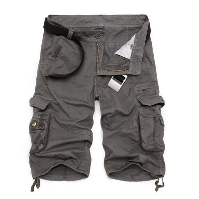 Camouflage Cargo Shorts Grey / 44 - Men Bottoms | MegaMallExpress.com