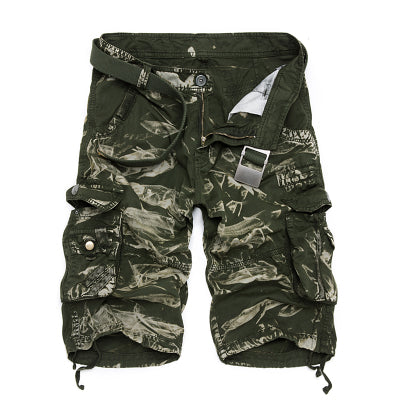 Camouflage Cargo Shorts 6603 Green Camo / 44 - Men Bottoms | MegaMallExpress.com