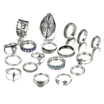 Vintage Bohemian Ring Set RJDY478 - Casual Rings | MegaMallExpress.com