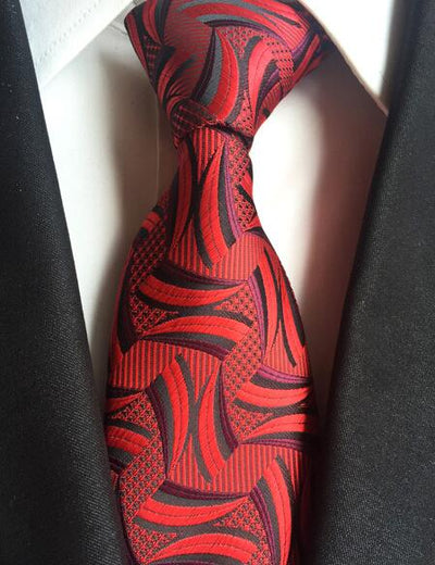 Formal Wear Tie for Men Red 166 - Men Ties & Accessories | MegaMallExpress.com