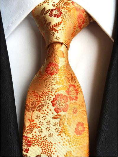 Formal Wear Tie for Men Orange 181 - Men Ties & Accessories | MegaMallExpress.com
