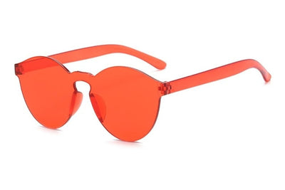 Women Flat Sunglasses Bright Colors Orange - Women Sunglasses | MegaMallExpress.com