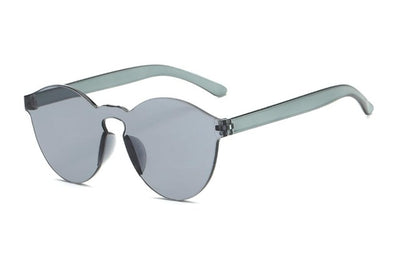 Women Flat Sunglasses Bright Colors Gray - Women Sunglasses | MegaMallExpress.com