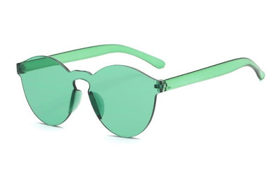 Women Flat Sunglasses Bright Colors Green - Women Sunglasses | MegaMallExpress.com