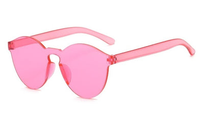 Women Flat Sunglasses Bright Colors Pink - Women Sunglasses | MegaMallExpress.com