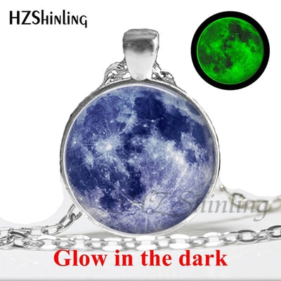 Glow in the Dark Glass Pendant Necklace 2 / Bronze - Necklaces & Pendants | MegaMallExpress.com