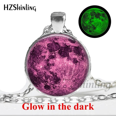 Glow in the Dark Glass Pendant Necklace 3 / Bronze - Necklaces & Pendants | MegaMallExpress.com