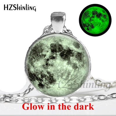 Glow in the Dark Glass Pendant Necklace 5 / Bronze - Necklaces & Pendants | MegaMallExpress.com