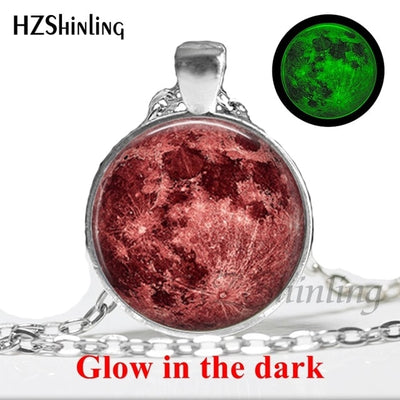 Glow in the Dark Glass Pendant Necklace 8 / Bronze - Necklaces & Pendants | MegaMallExpress.com