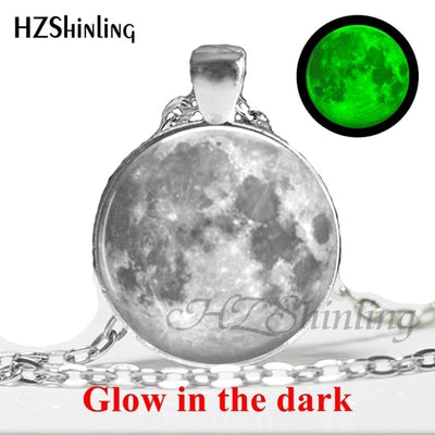 Glow in the Dark Glass Pendant Necklace 9 / Bronze - Necklaces & Pendants | MegaMallExpress.com