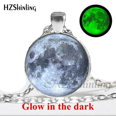 Glow in the Dark Glass Pendant Necklace 10 / Bronze - Necklaces & Pendants | MegaMallExpress.com