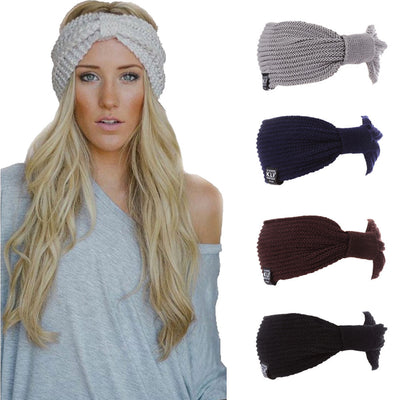 Women Wool Head Wrap Gray - Hair Care & Styling | MegaMallExpress.com