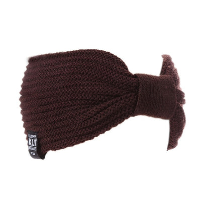 Women Wool Head Wrap Brown - Hair Care & Styling | MegaMallExpress.com