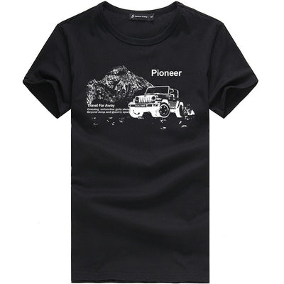 Printed T-Shirts black 405033A / XXXL - Men Tops & Tees | MegaMallExpress.com