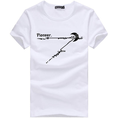 Printed T-Shirts white 205082 / M - Men Tops & Tees | MegaMallExpress.com