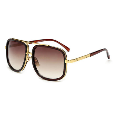 Oversized Men Sunglasses Brown/Brown - Men Sunglasses | MegaMallExpress.com