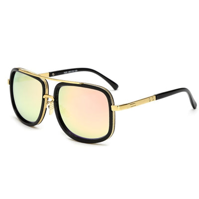 Oversized Men Sunglasses Black/Pink - Men Sunglasses | MegaMallExpress.com