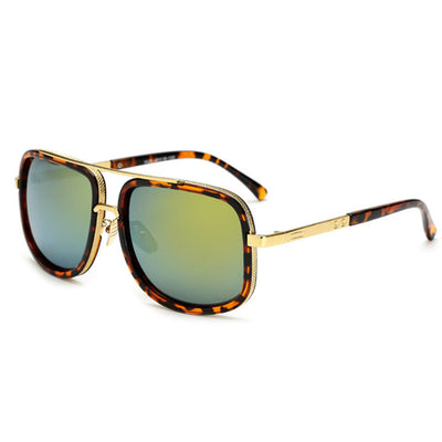 Oversized Men Sunglasses Gold/Light Brown - Men Sunglasses | MegaMallExpress.com