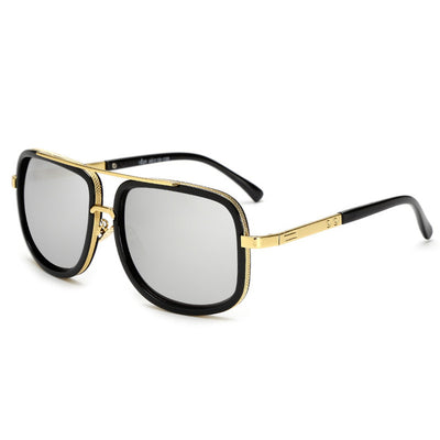 Oversized Men Sunglasses Black /Silver - Men Sunglasses | MegaMallExpress.com