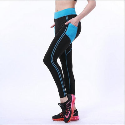 Women Ankle Length Leggings blackblue / XL - Women Bottoms | MegaMallExpress.com