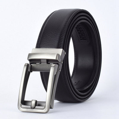 Automatic Buckle Leather Waist Strap Belts Black D / 130cm - Men Belts | MegaMallExpress.com