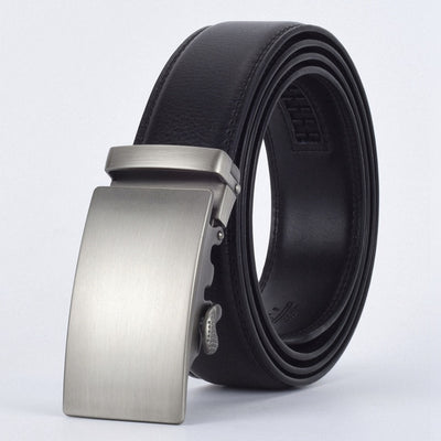 Automatic Buckle Leather Waist Strap Belts Black E / 130cm - Men Belts | MegaMallExpress.com