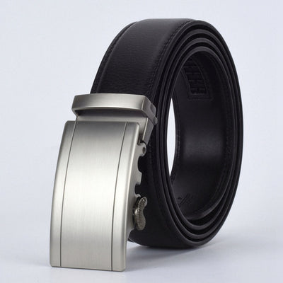 Automatic Buckle Leather Waist Strap Belts Black F / 130cm - Men Belts | MegaMallExpress.com