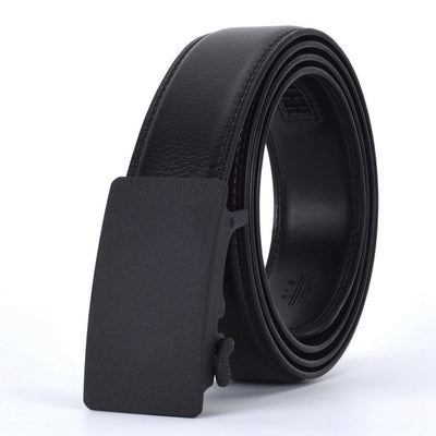 Automatic Buckle Leather Waist Strap Belts Black G / 130cm - Men Belts | MegaMallExpress.com