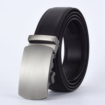 Automatic Buckle Leather Waist Strap Belts Black P / 130cm - Men Belts | MegaMallExpress.com