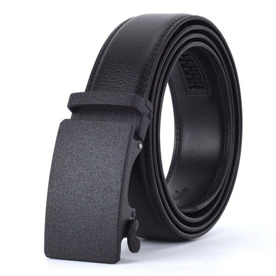 Automatic Buckle Leather Waist Strap Belts Black Q / 130cm - Men Belts | MegaMallExpress.com