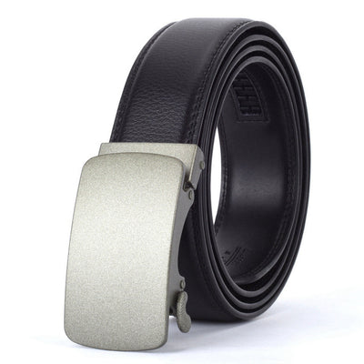 Automatic Buckle Leather Waist Strap Belts Black O / 130cm - Men Belts | MegaMallExpress.com