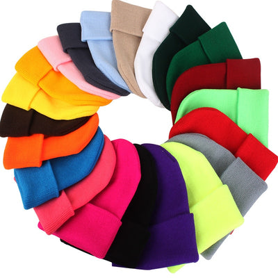 Women Beanie Caps Solid Colors  - Women Socks & More | MegaMallExpress.com