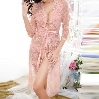 Sexy Women Nightgown Pink / 5XL - Women Intimates | MegaMallExpress.com