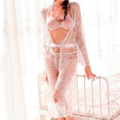 Sexy Women Nightgown White / 5XL - Women Intimates | MegaMallExpress.com