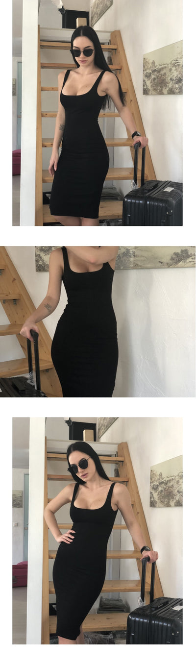 Women Slim Bodycon Party Dress Sleeveless  - Women Dresses | MegaMallExpress.com