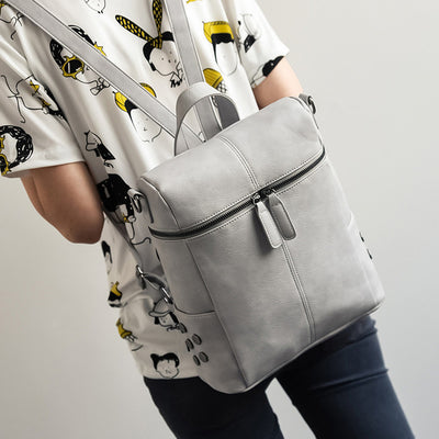 Teenage Fashion School Backpack grey - Everyday Backpacks | MegaMallExpress.com