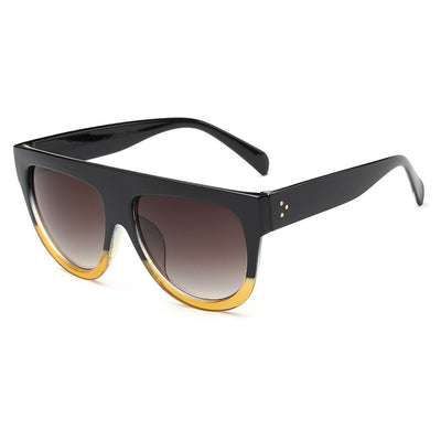 Women Over Sized Flat Top Sunglasses C02 - Women Sunglasses | MegaMallExpress.com
