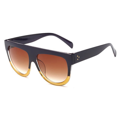 Women Over Sized Flat Top Sunglasses C03 - Women Sunglasses | MegaMallExpress.com