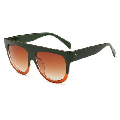 Women Over Sized Flat Top Sunglasses C04 - Women Sunglasses | MegaMallExpress.com