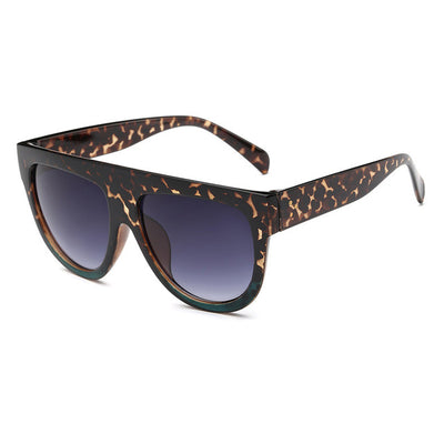 Women Over Sized Flat Top Sunglasses C06 - Women Sunglasses | MegaMallExpress.com