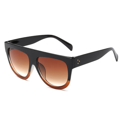 Women Over Sized Flat Top Sunglasses C07 - Women Sunglasses | MegaMallExpress.com