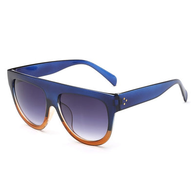Women Over Sized Flat Top Sunglasses C08 - Women Sunglasses | MegaMallExpress.com