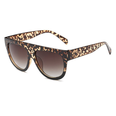 Women Over Sized Flat Top Sunglasses C09 - Women Sunglasses | MegaMallExpress.com