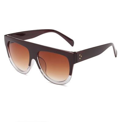 Women Over Sized Flat Top Sunglasses C10 - Women Sunglasses | MegaMallExpress.com