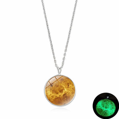 Glow In The Dark Moon Pendant 5-green - Necklaces & Pendants | MegaMallExpress.com