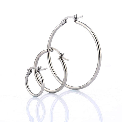 Classic Hoop Earrings  - Earrings | MegaMallExpress.com